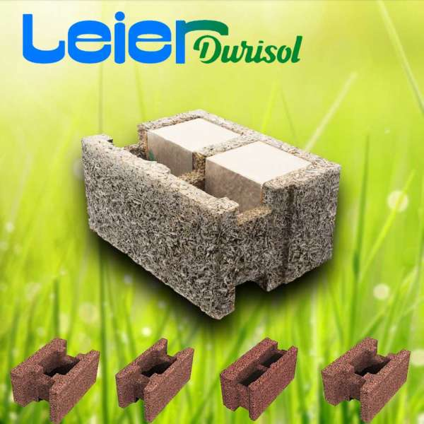 Durisol DSs 30/12 L hőszigetelt falazóelem