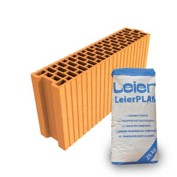 LeierPLAN 12/50 N+F csiszolt tégla + vékony falazóhabarcs
