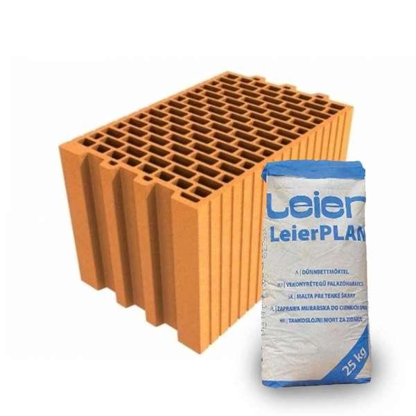 LeierPLAN 25 N+F csiszolt tégla + vékony falazóhabarcs