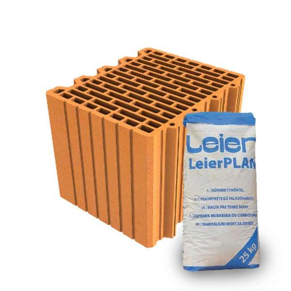 LeierPLAN 30 N+F csiszolt tégla + vékony falazóhabarcs