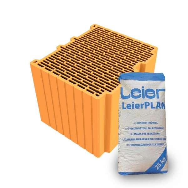 LeierPLAN 38 Pro csiszolt tégla + vékony falazóhabarcs