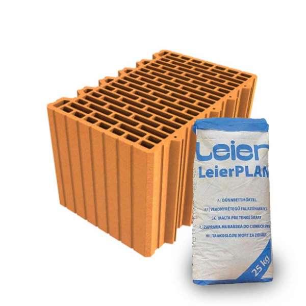 LeierPLAN 38 N+F csiszolt tégla + vékony falazóhabarcs